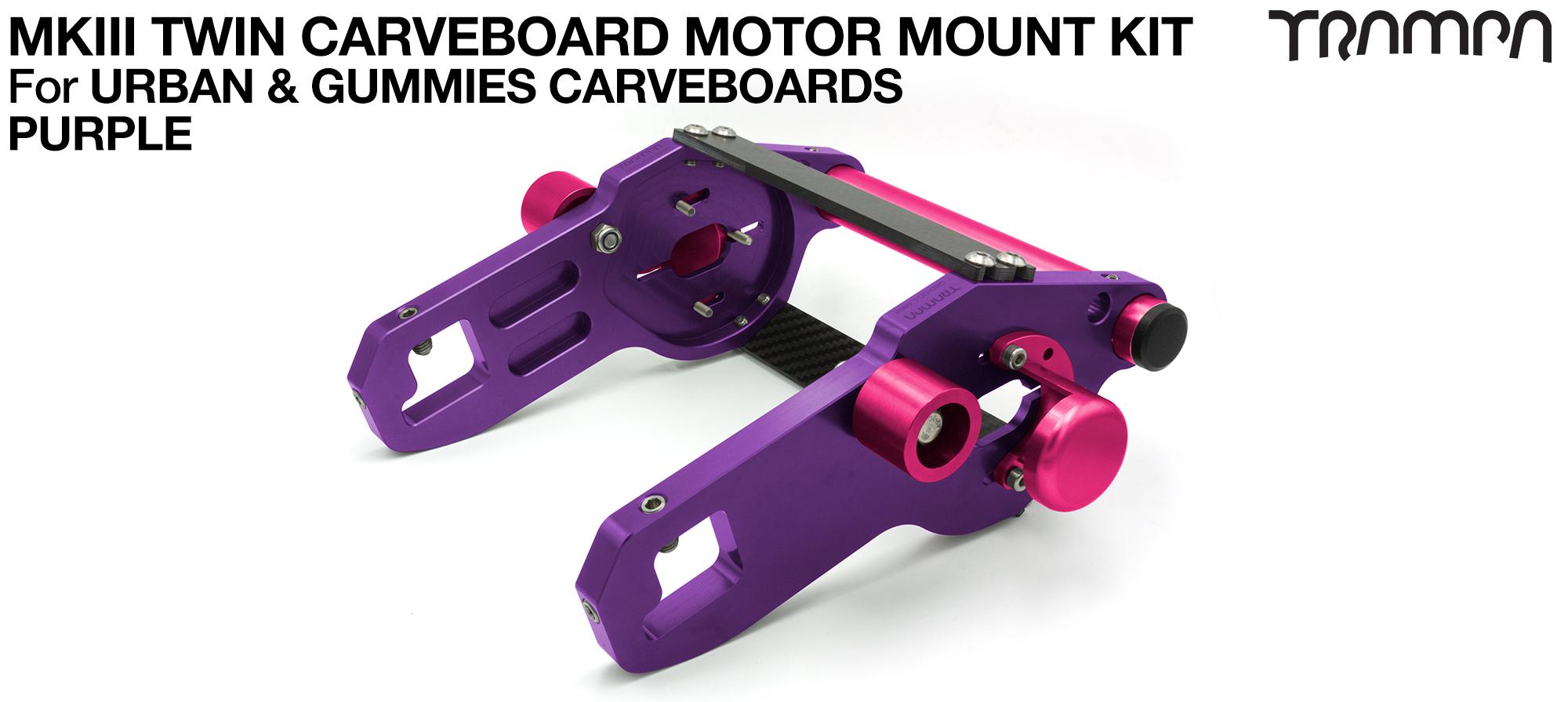 MkIII CARVE BOARD Motor Mount Kit - TWIN PURPLE