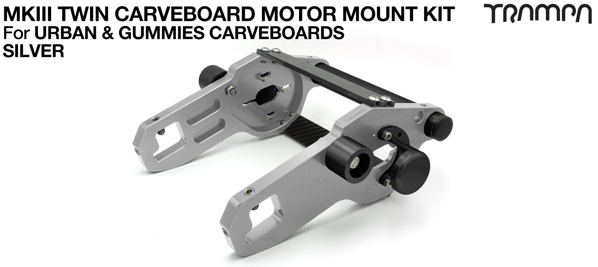 MkIII CARVE BOARD Motor Mount Kit - TWIN SILVER