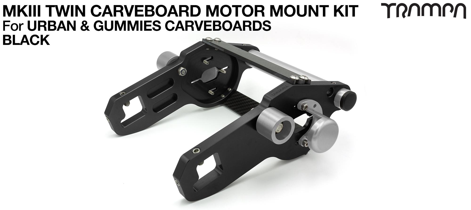 MkIII CARVE BOARD Motor Mount Kit - TWIN BLACK