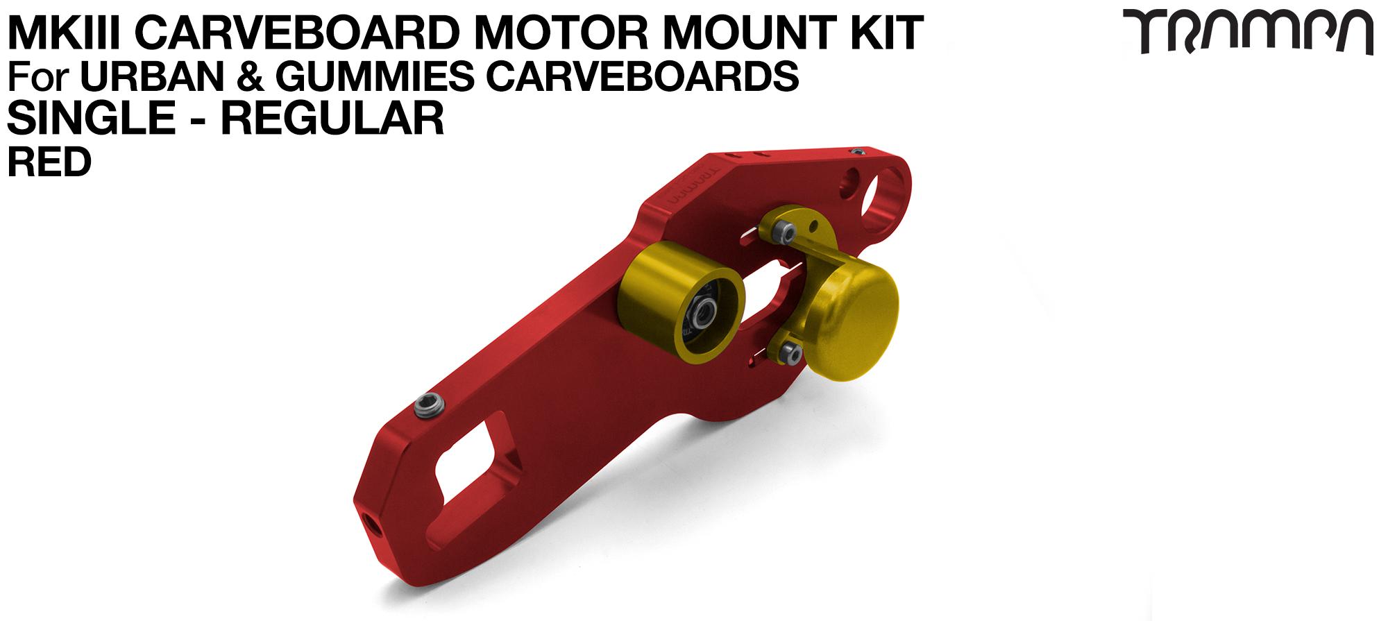 TRAMPA MkIII CARVE BOARD Motor Mount Kit - SINGLE RED