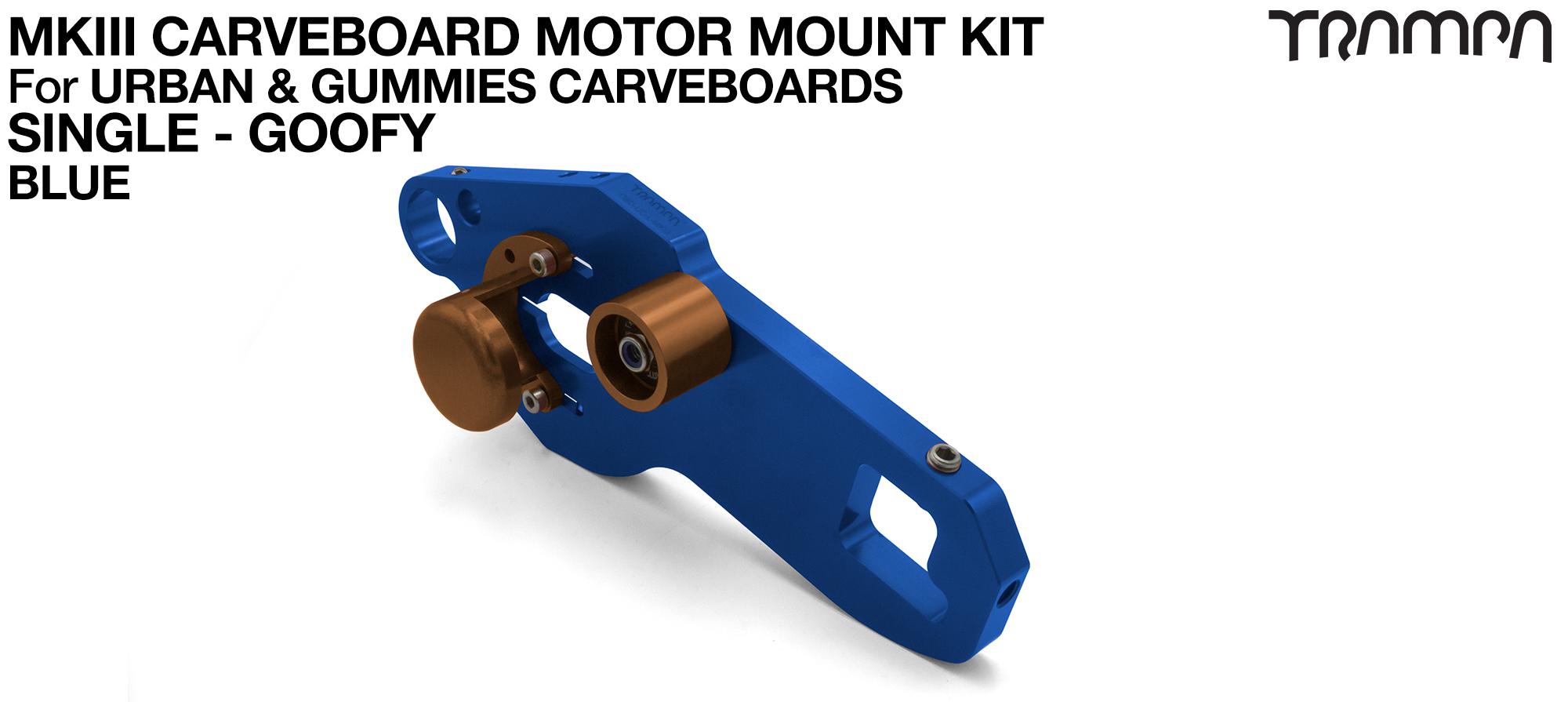 MkIII CARVE BOARD Motor Mount Kit - SINGLE BLUE