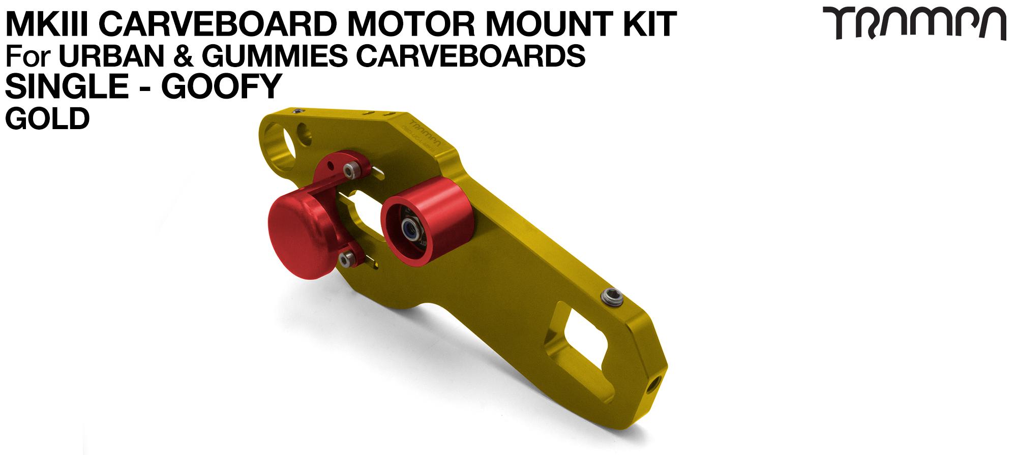 MkIII CARVE BOARD Motor Mount Kit - SINGLE GOLD