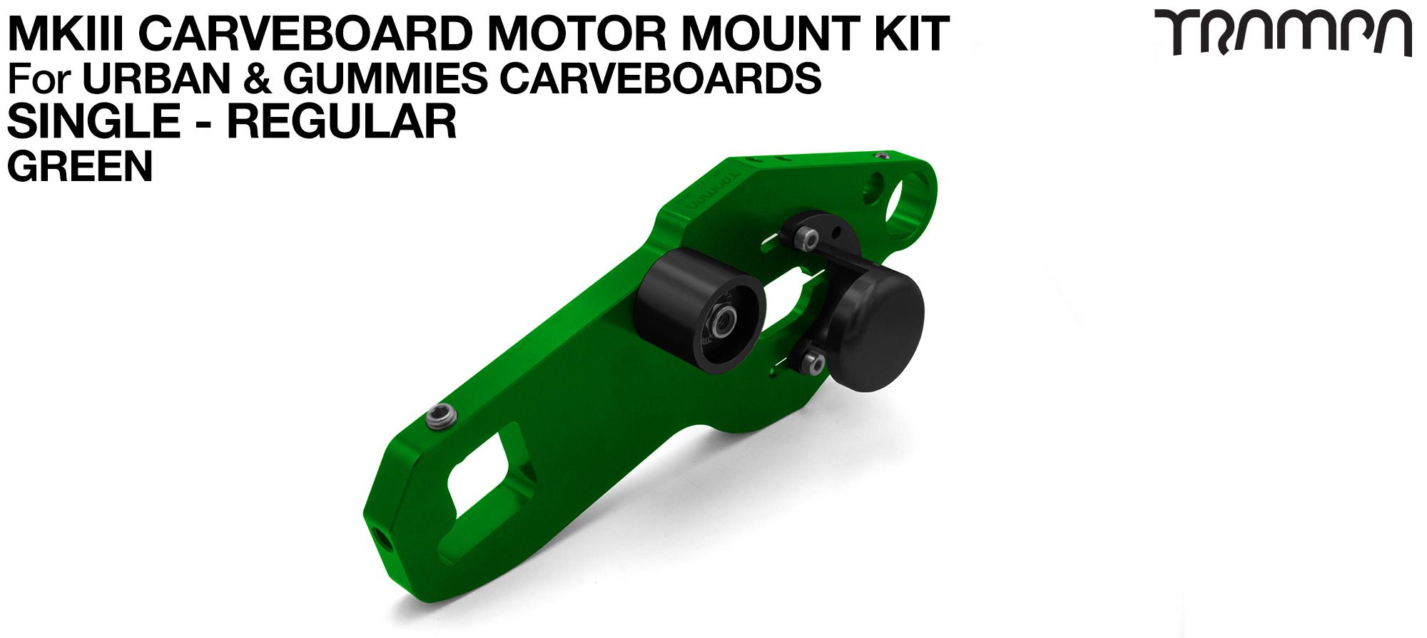 MkIII CARVE BOARD Motor Mount Kit - SINGLE GREEN
