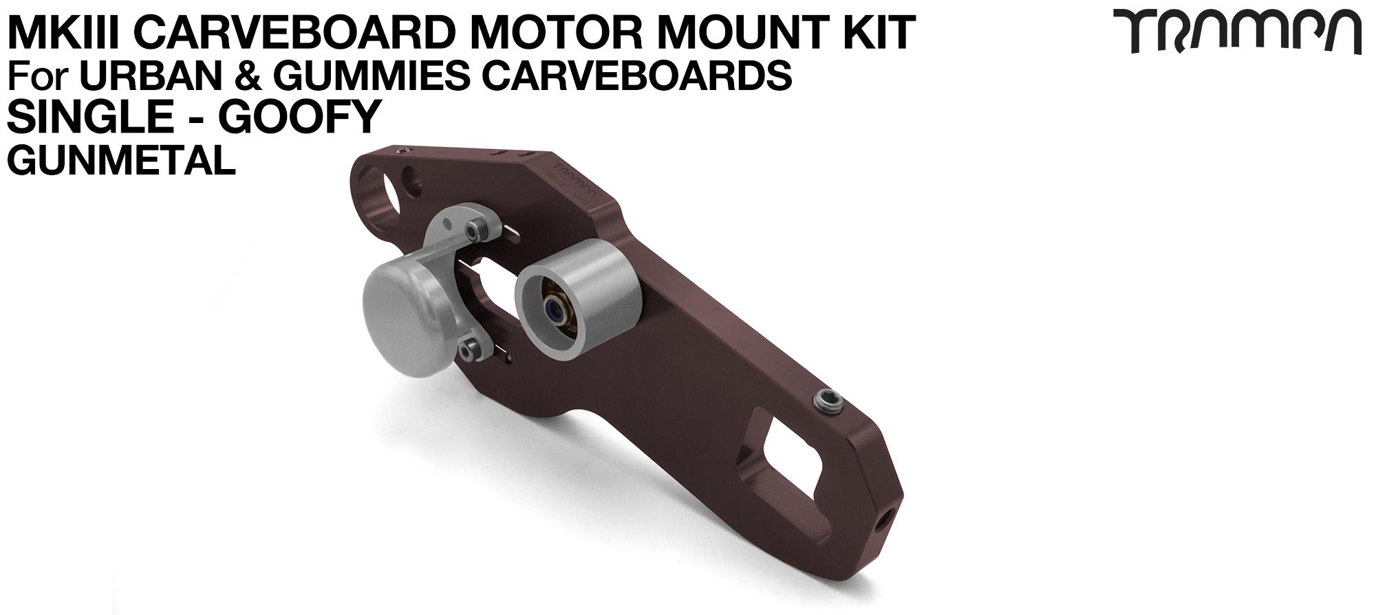 MkIII CARVE BOARD Motor Mount Kit - SINGLE GUNMETAL