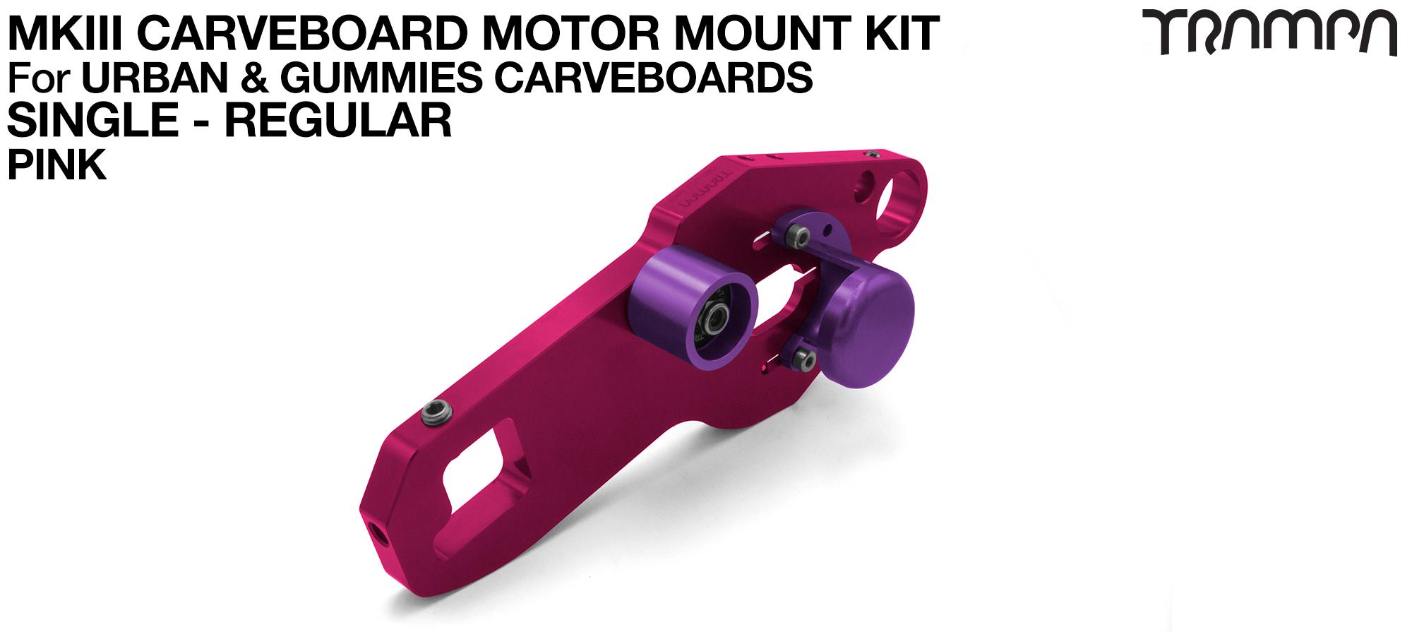 MkIII CARVE BOARD Motor Mount Kit - SINGLE PINK