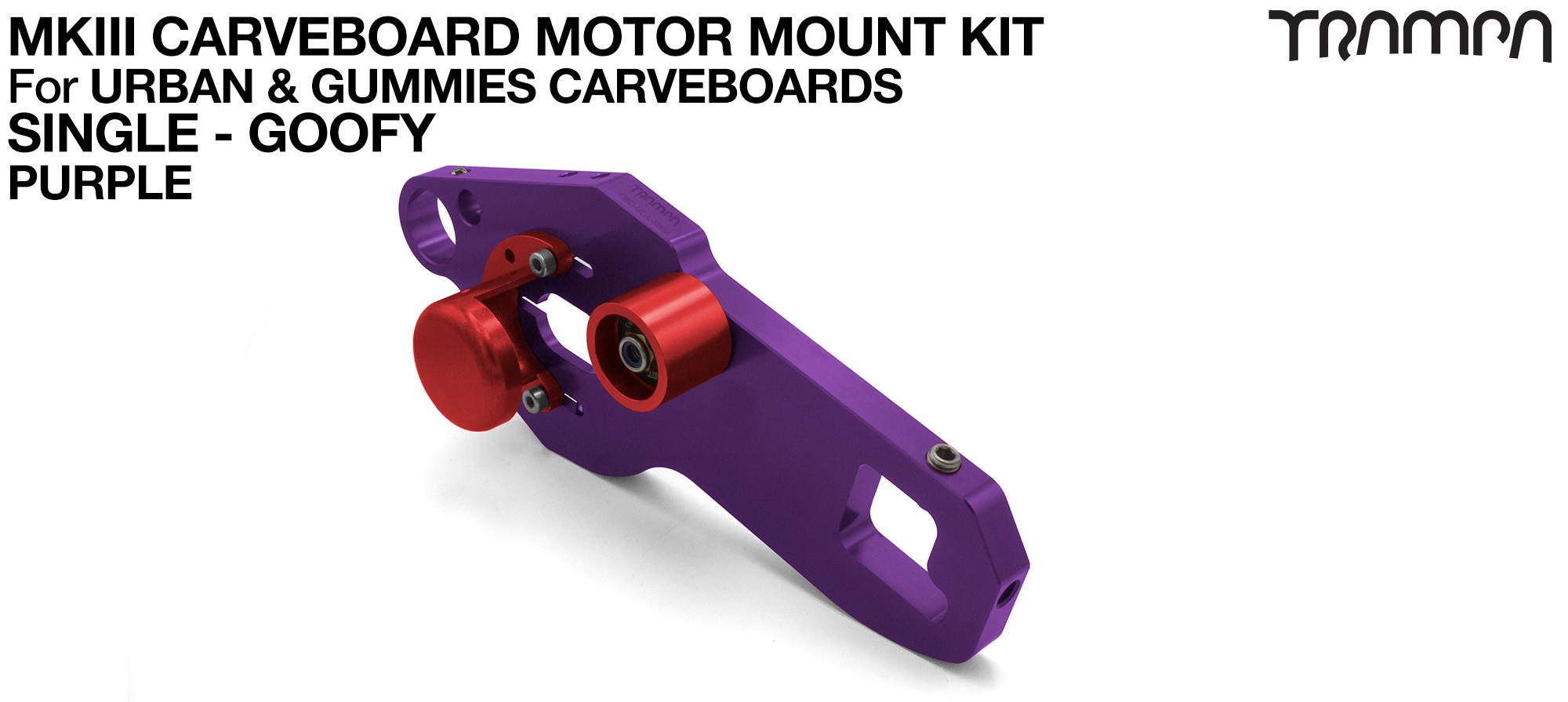 MkIII CARVE BOARD Motor Mount Kit - SINGLE PURPLE