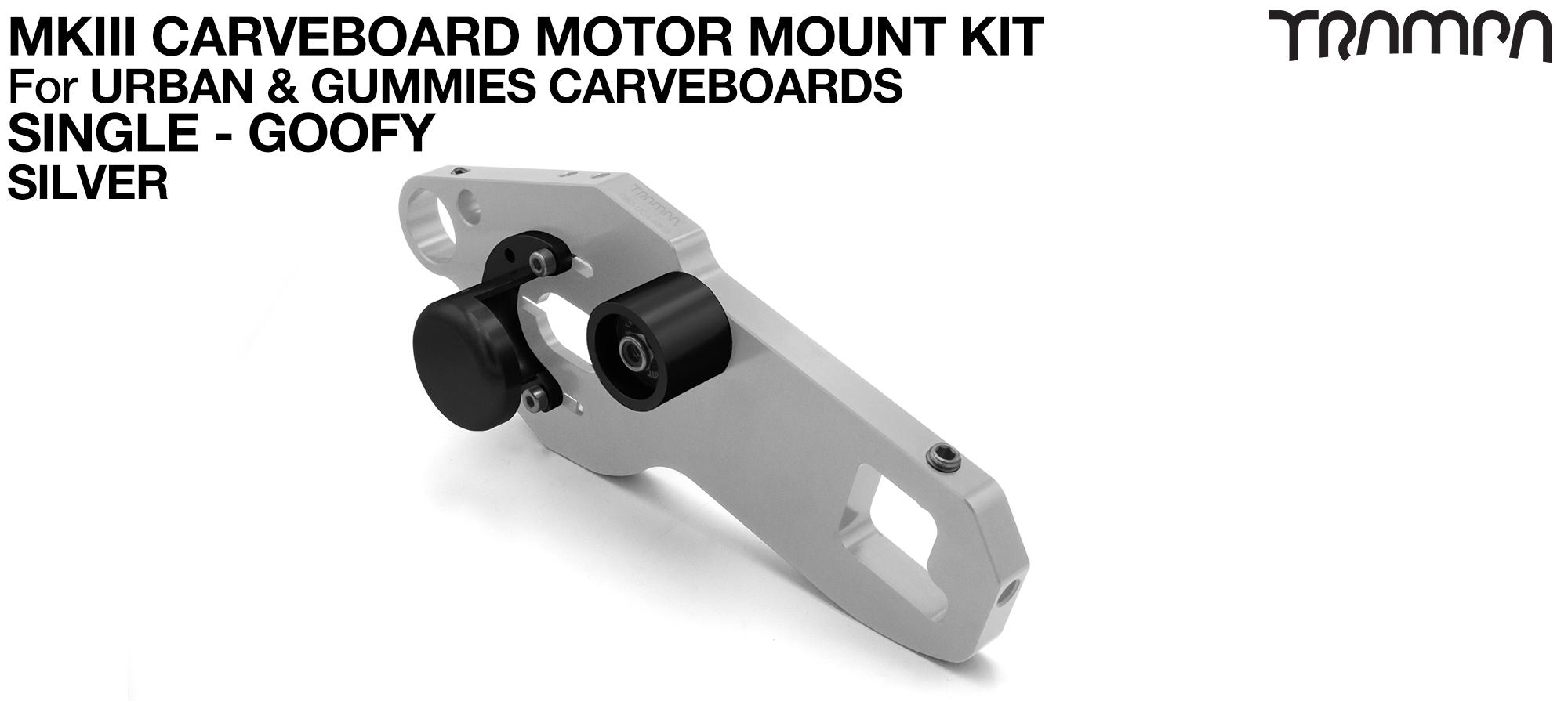 TRAMPA MkIII CARVE BOARD Motor Mount Kit - SINGLE SILVER
