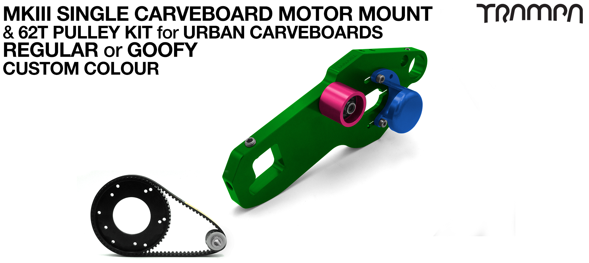 MkIII URBAN CARVEBOARD Motormount Connector Panel & 62 Tooth Pulley Kit - SINGLE