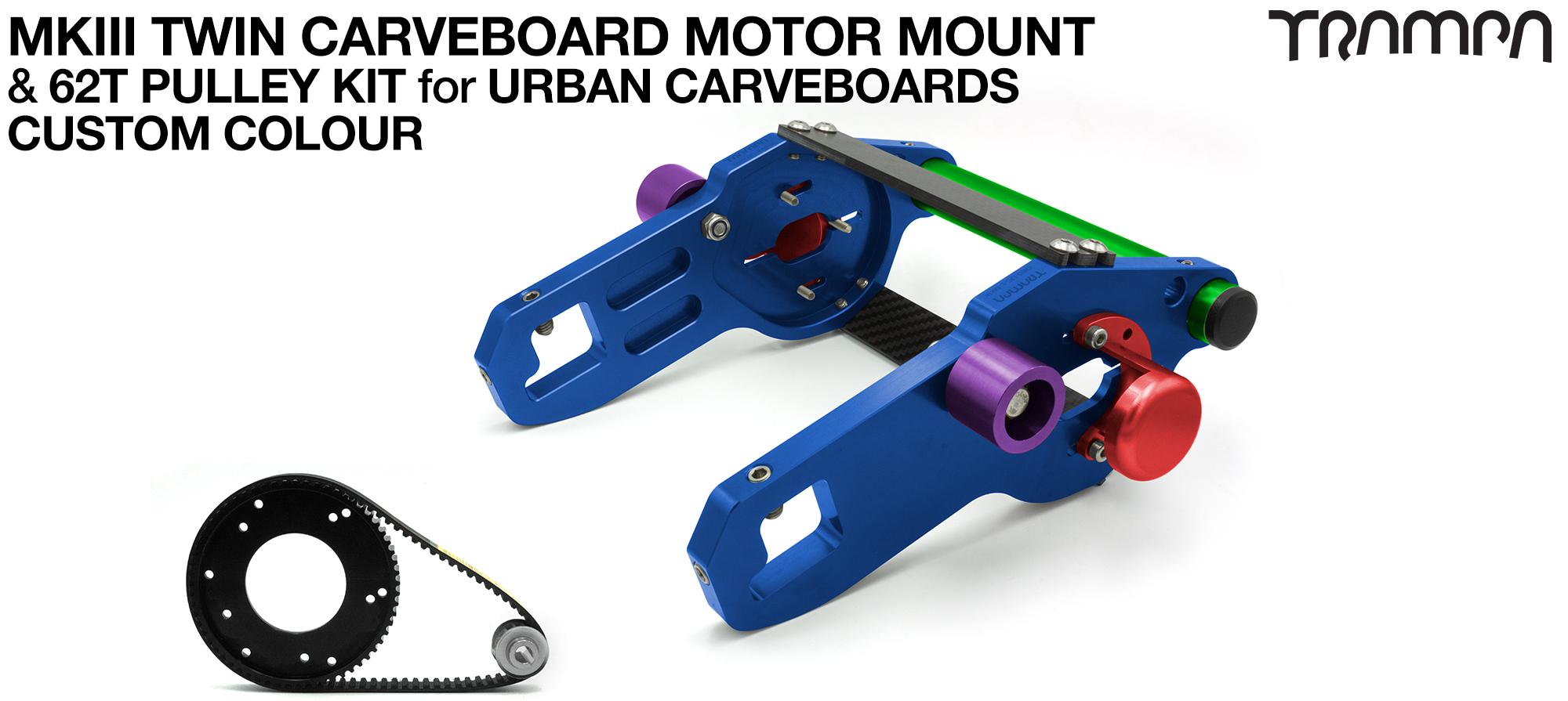 MkIII URBAN CARVEBOARD Motormount Connector Panel & 62 Tooth Pulleys - TWIN