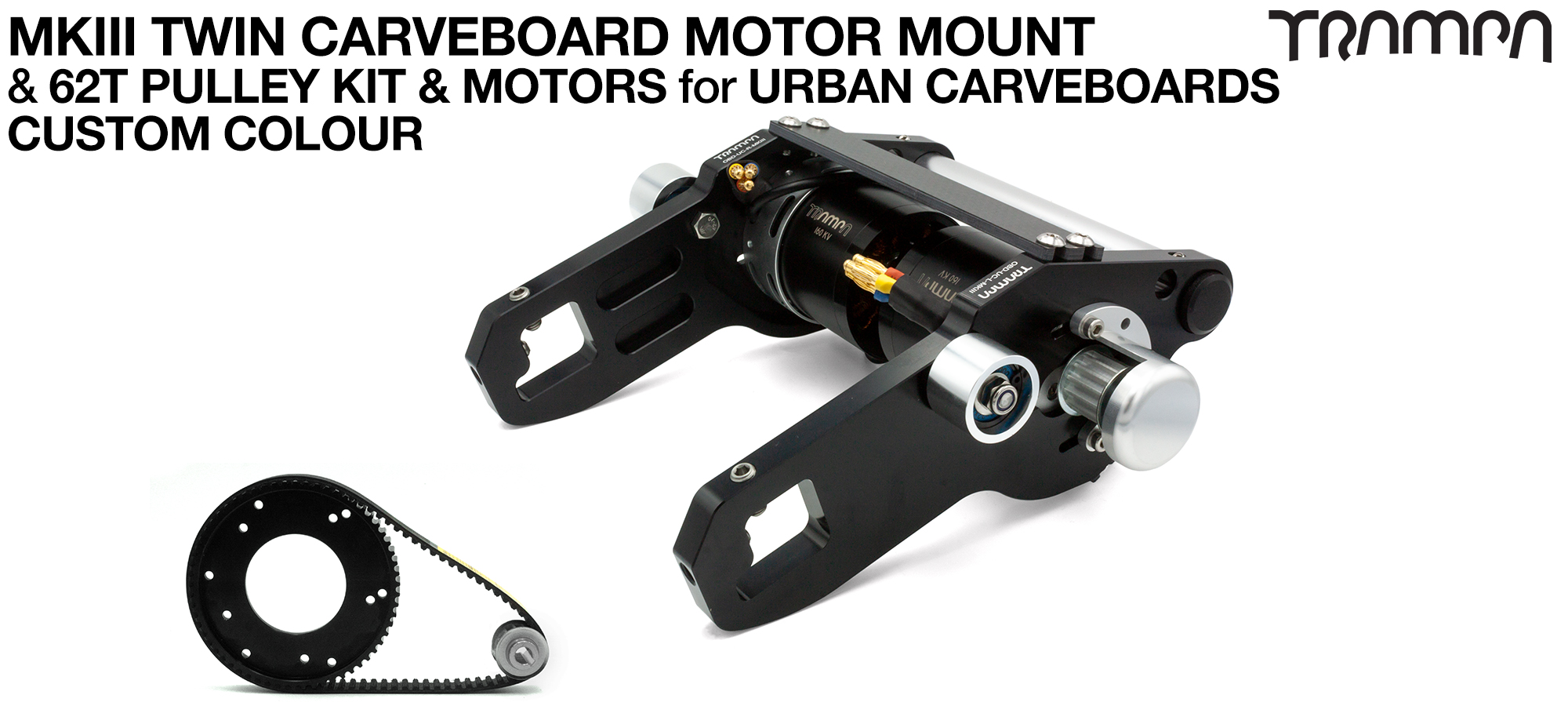 MkIII URBAN CARVEBOARD Motormount Connector Panel & 62 Tooth Pulley Kit & Motor - TWIN