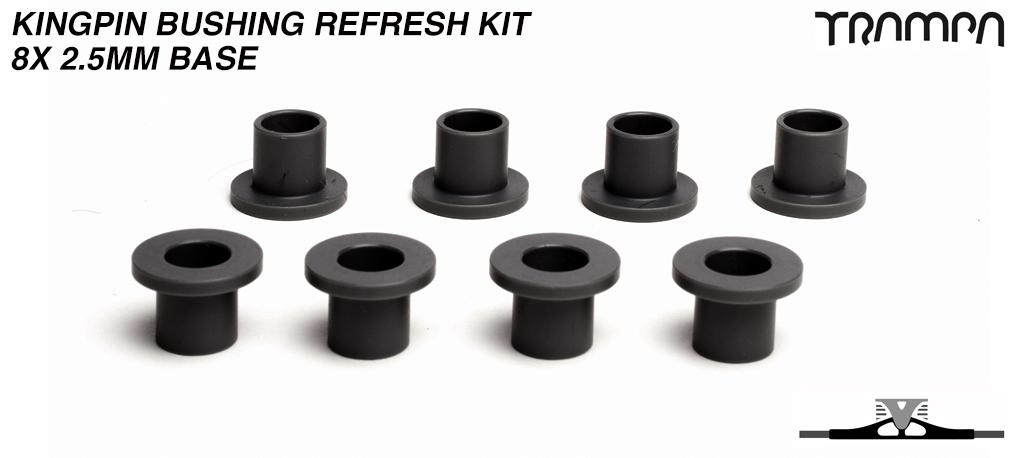 3mm BASE Kingpin bushings for ALL Spring Trucks x8