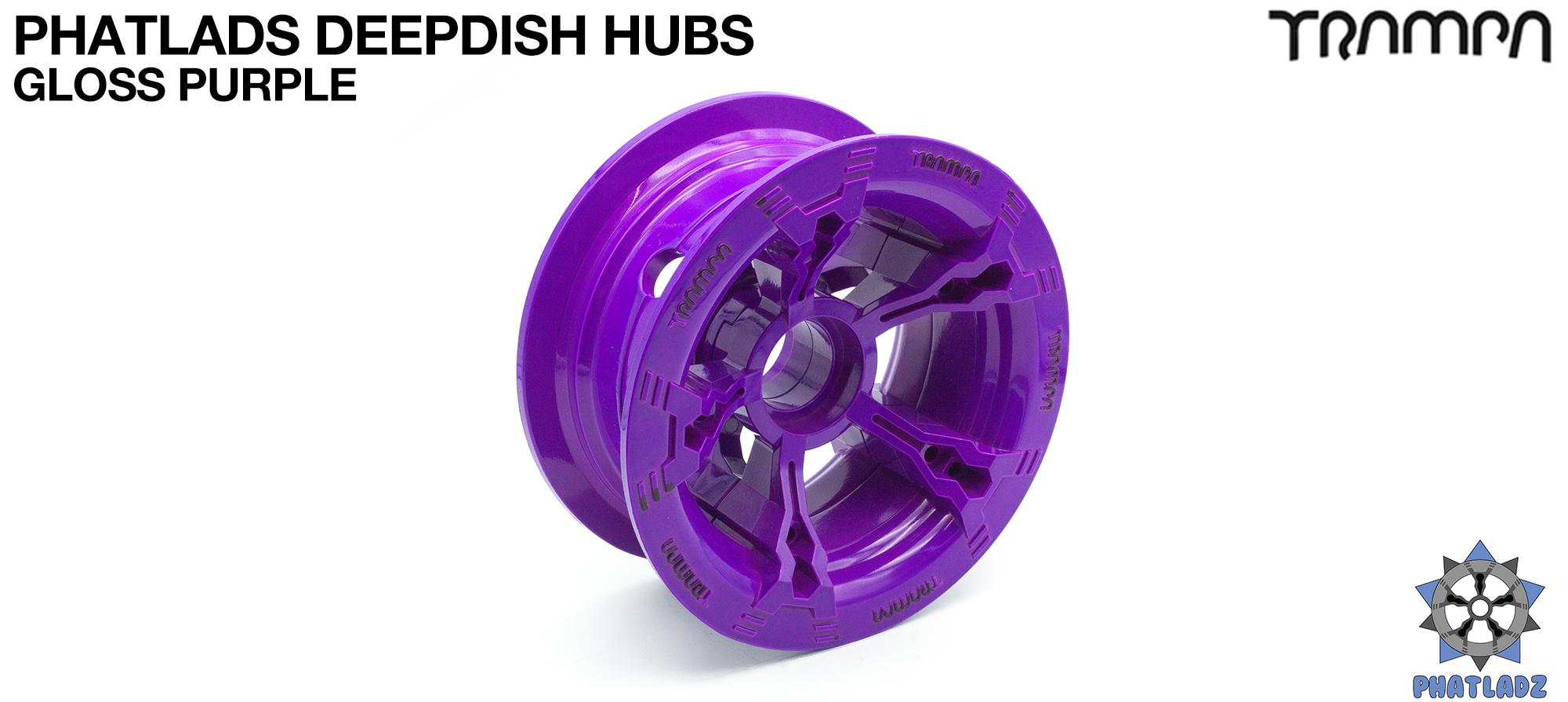 PURPLE Gloss BLACK Logo PHATLADS Hub (+£20)