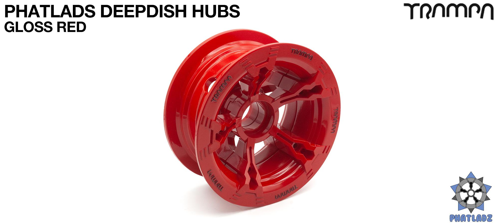 RED Gloss BLACK Logo PHATLADS Hub (+£20)