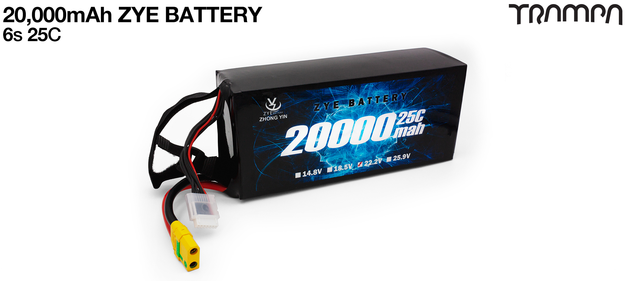 Please supply 2x 6s 20A ZYE Li-Po Cells & 1x 12s Cable kit (+£300)