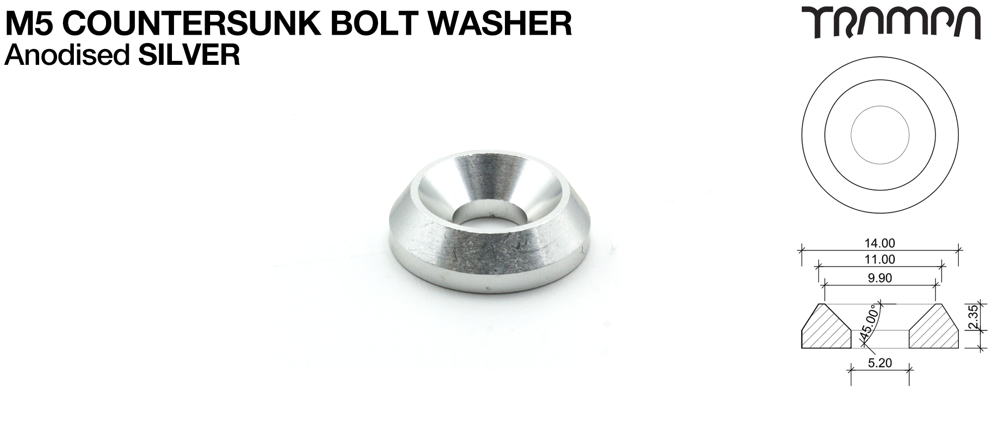 M5 COUNTERSUNK Washer - SILVER