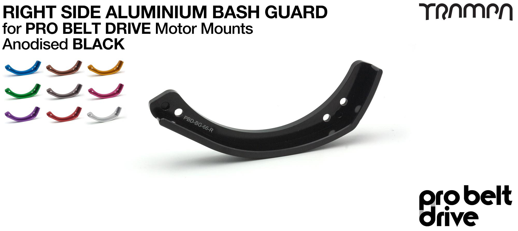 20mm PRO Belt Motor Mount Bash Guard - RIGHT (GOOFY)