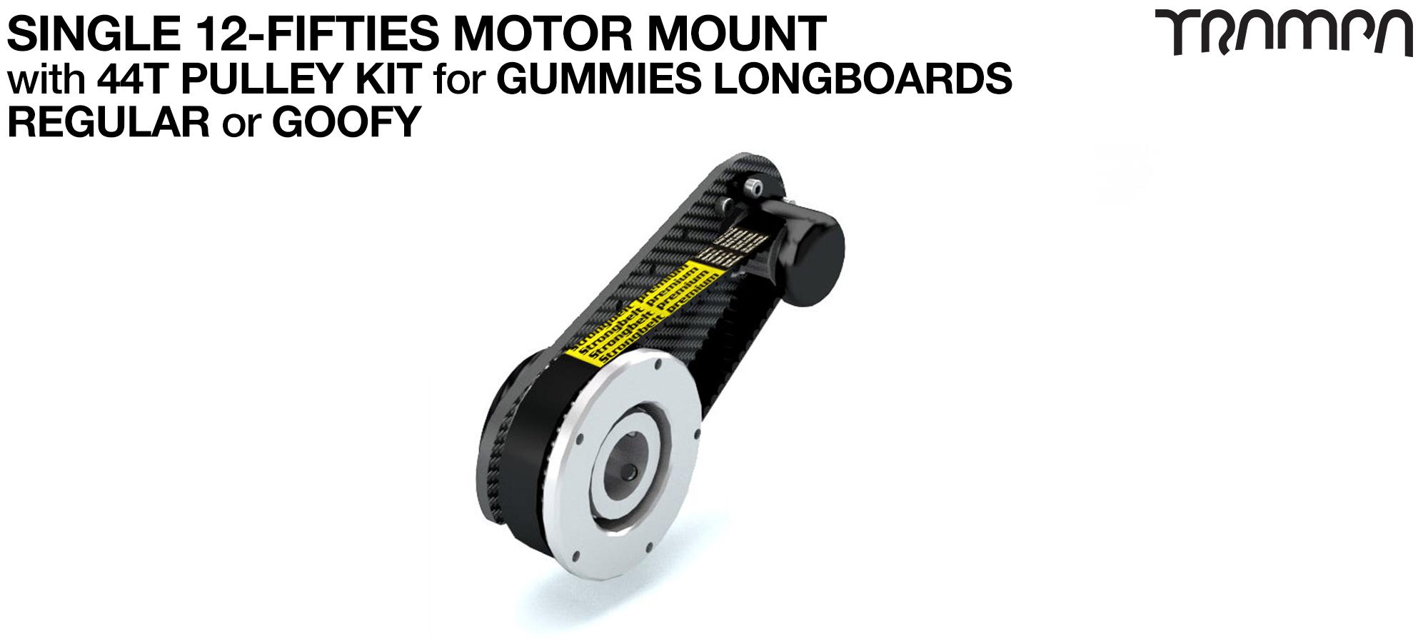 Original 12FiFties Motor Mount & 44 Tooth Pulley Kit for GUMMIES Wheels - SINGLE