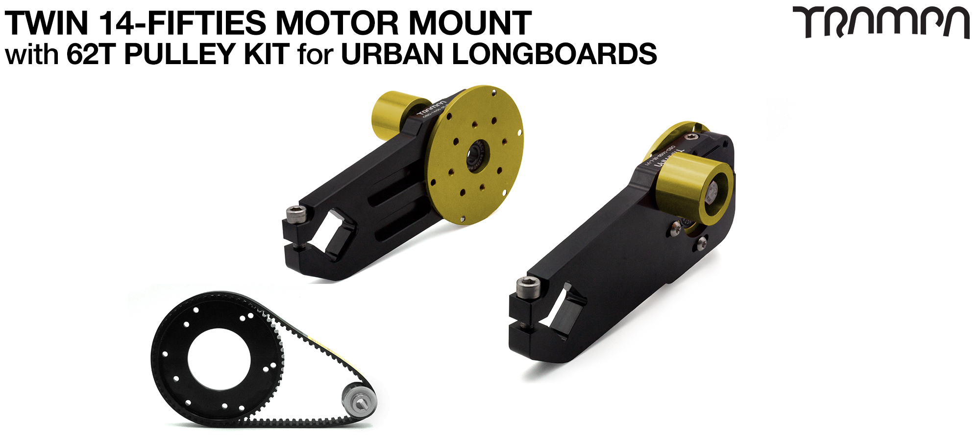 14FiFties Motor Mount with 62 Tooth URBAN  Pulley Kit - TWIN