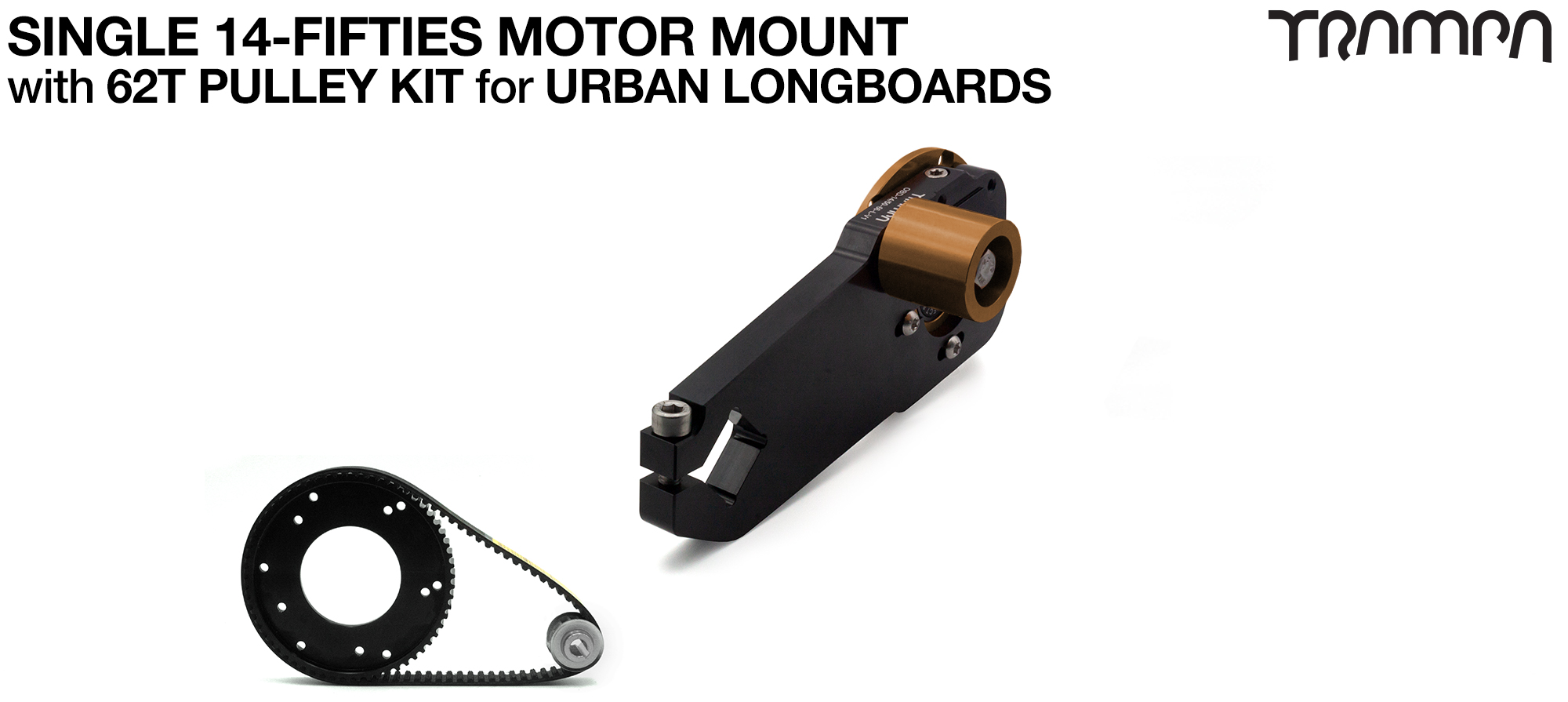 14FiFties Motor Mount with 62 Tooth URBAN  Pulley Kit - SINGLE
