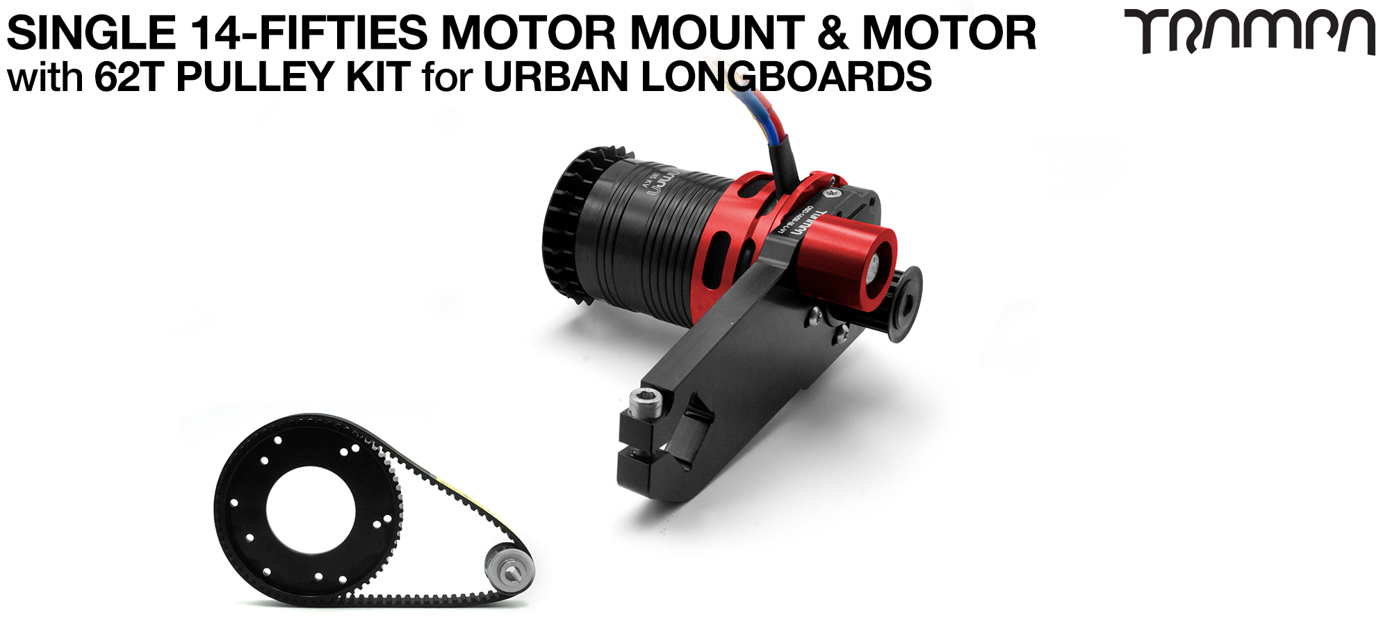14FiFties Motor Mount with 62 Tooth URBAN  Pulley Kit & Motor - SINGLE
