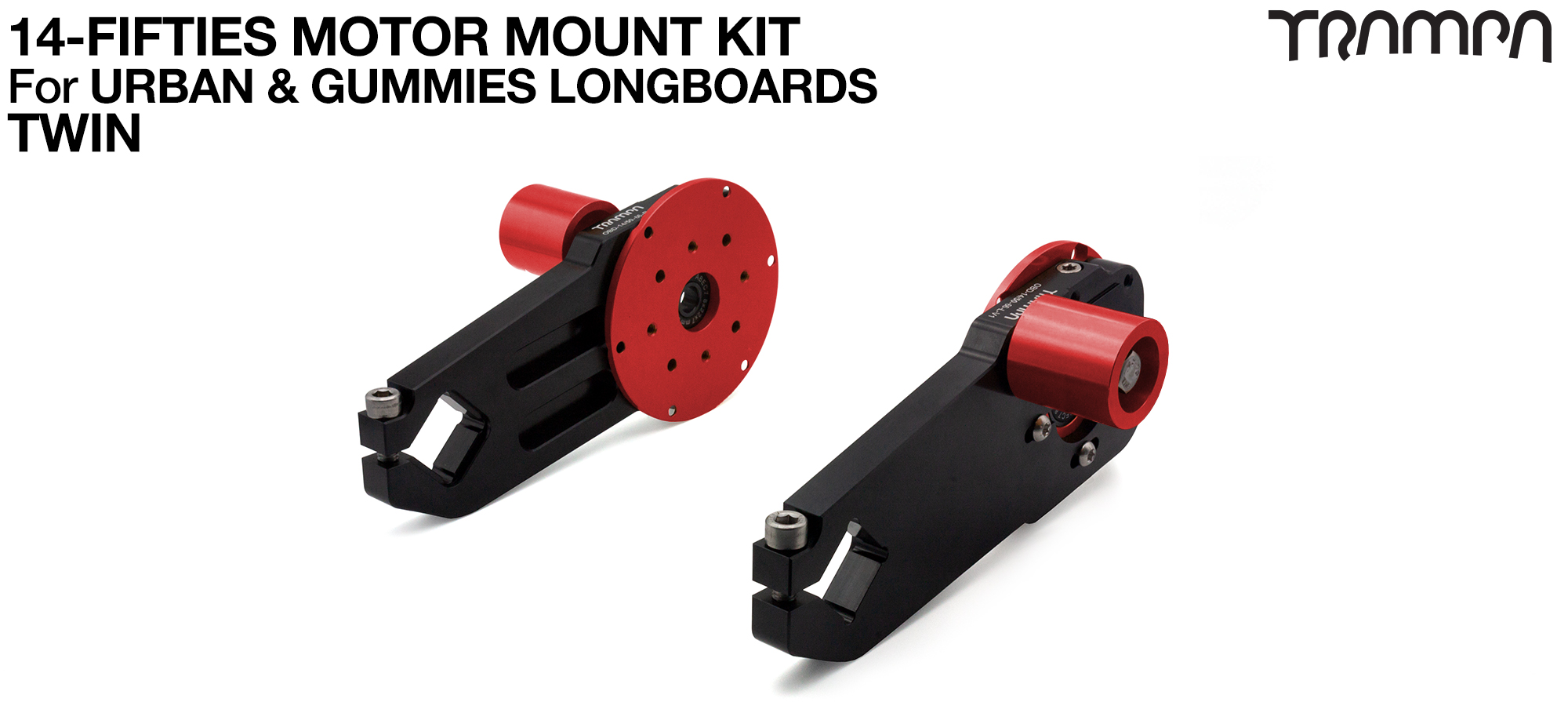14FiFties Motor Mount Connector with Axle support & 20mm Belt Tensioner - TWIN