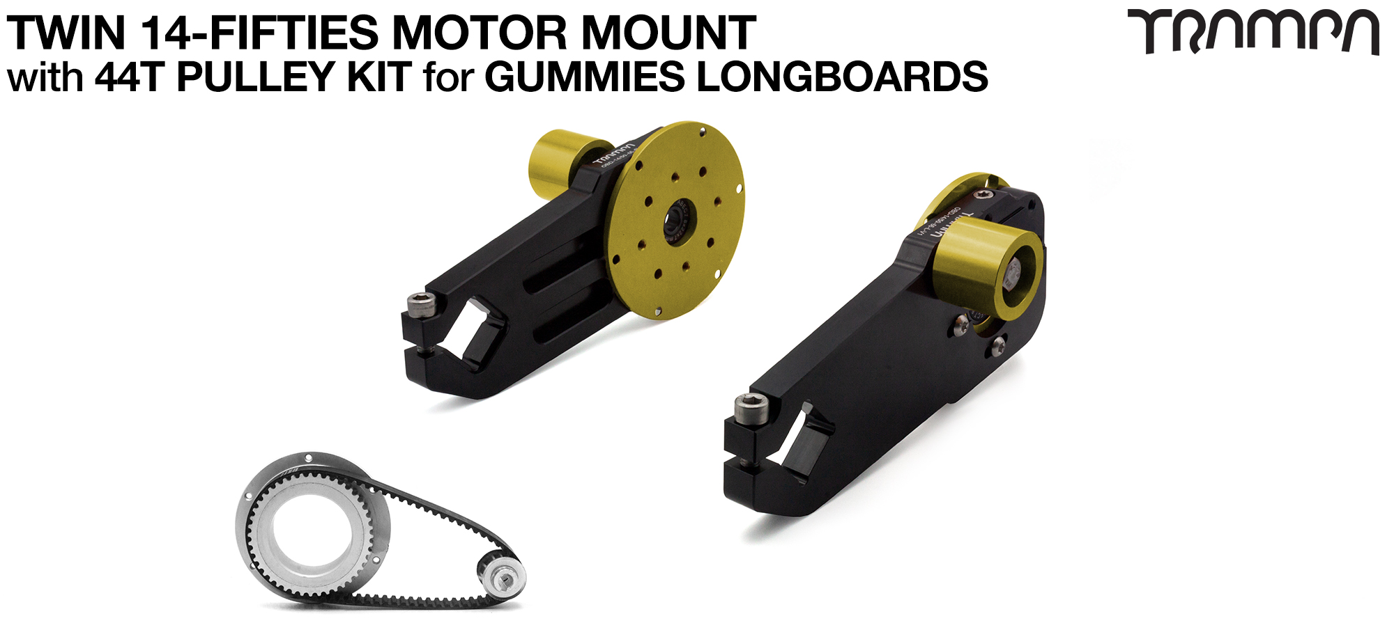 14FiFties Motor Mount & 44 Tooth Pulley Kit for GUMMIES Wheels - TWIN
