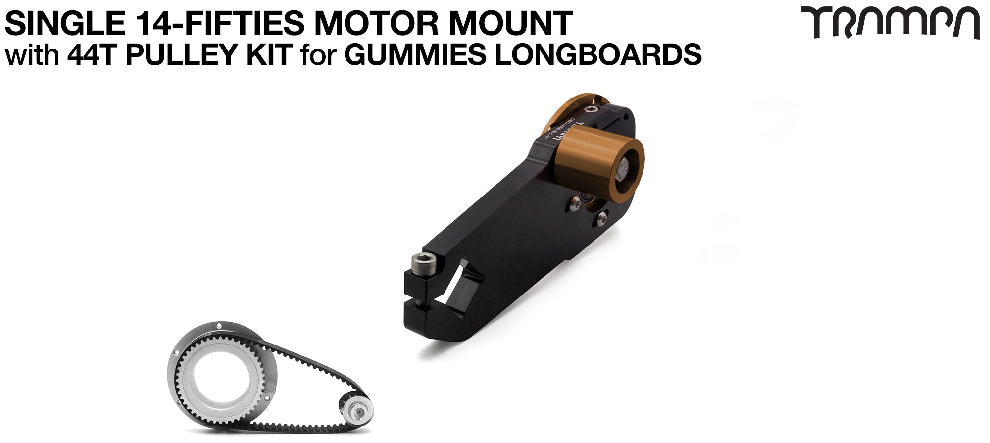 14FiFties Motor Mount & 44 Tooth Pulley Kit for GUMMIES Wheels - SINGLE