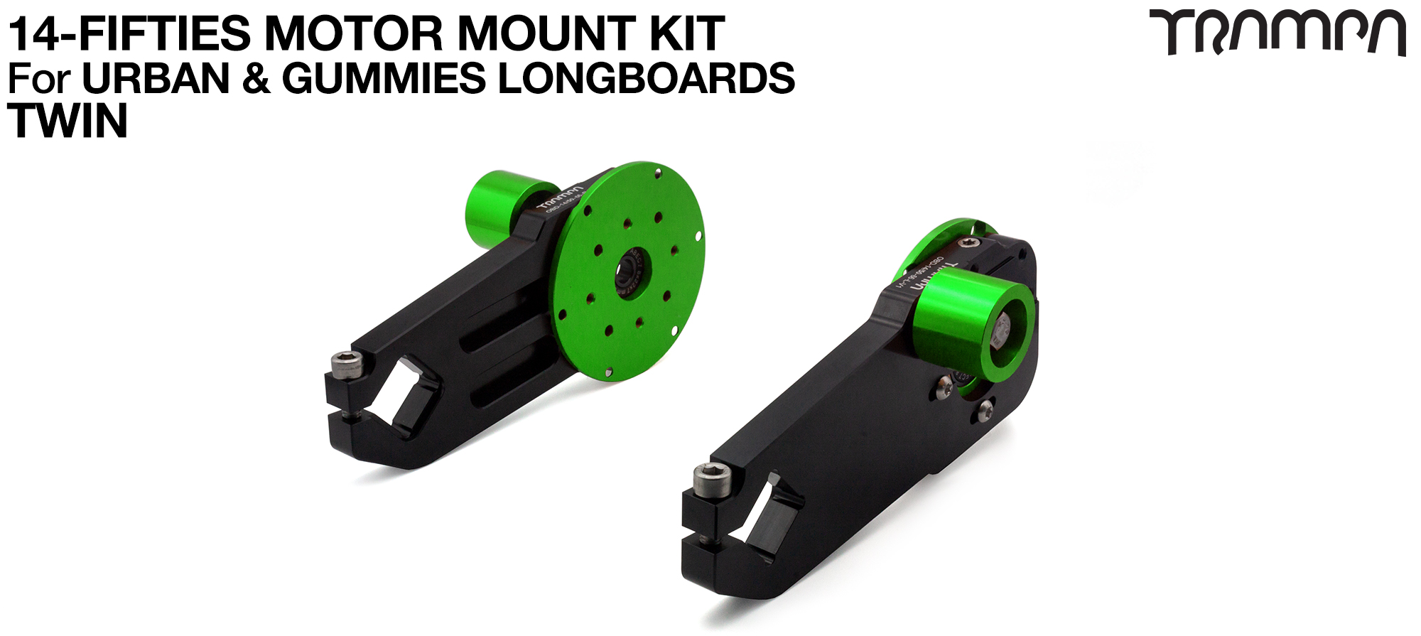 14FiFties Motor Mount Connector with Axle support & 15mm Belt Tensioner - TWIN