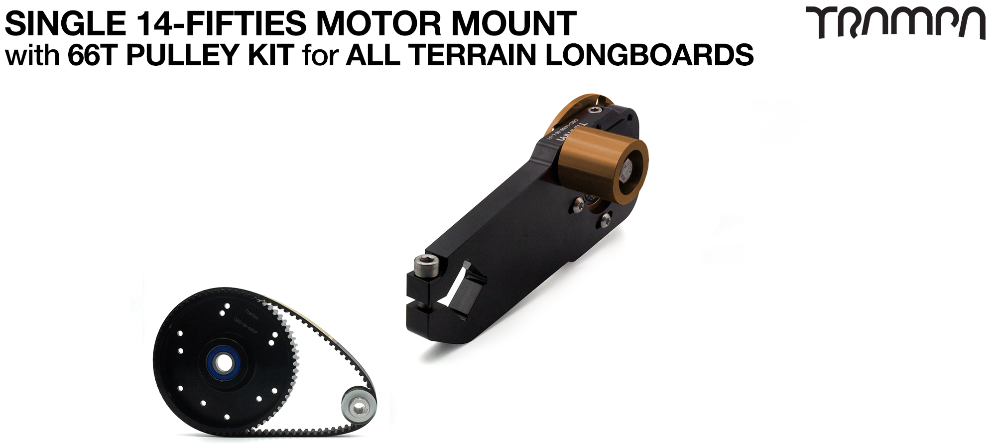 14FiFties Motor Mount with 66 Tooth URBAN  Pulley Kit - SINGLE