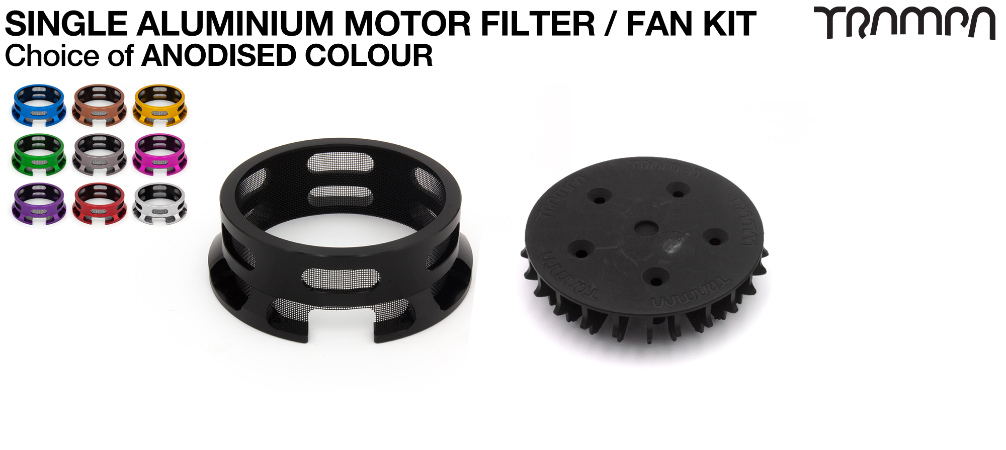 14FiFties T6 Motor protection Sleeve with BLACK particle Filter - SINGLE