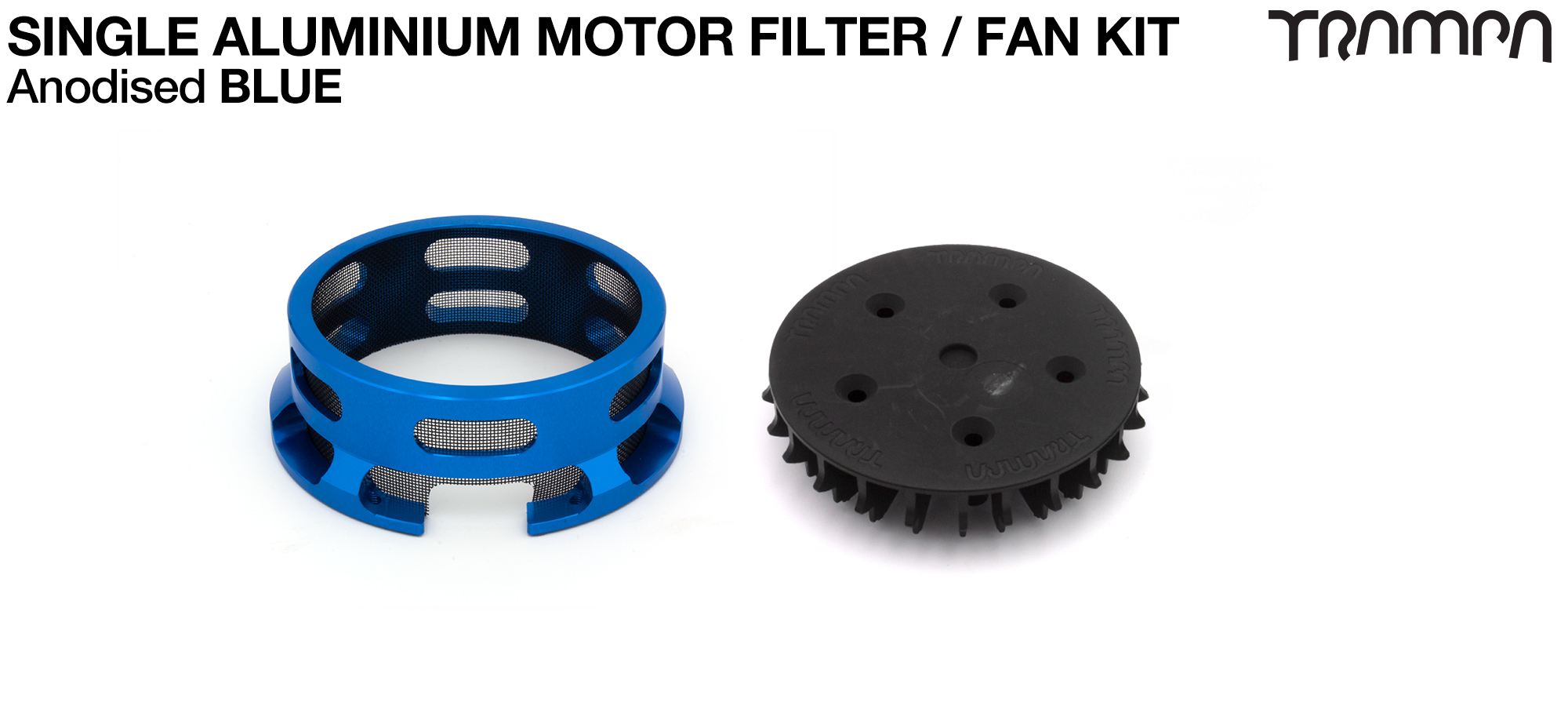 14FiFties BLACK Motor protection Housing with BLUE particle Filter & Fan - SINGLE