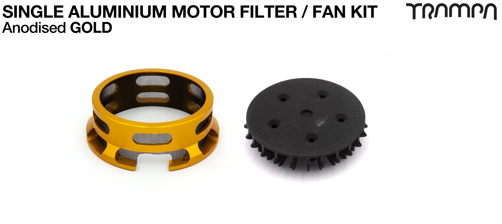 14FiFties BLACK Motor protection Housing with GOLD particle Filter & Fan - SINGLE