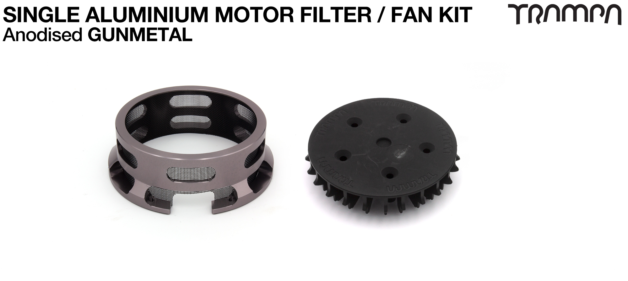 14FiFties BLACK Motor protection Housing with GUNMETAL particle Filter & Fan - SINGLE