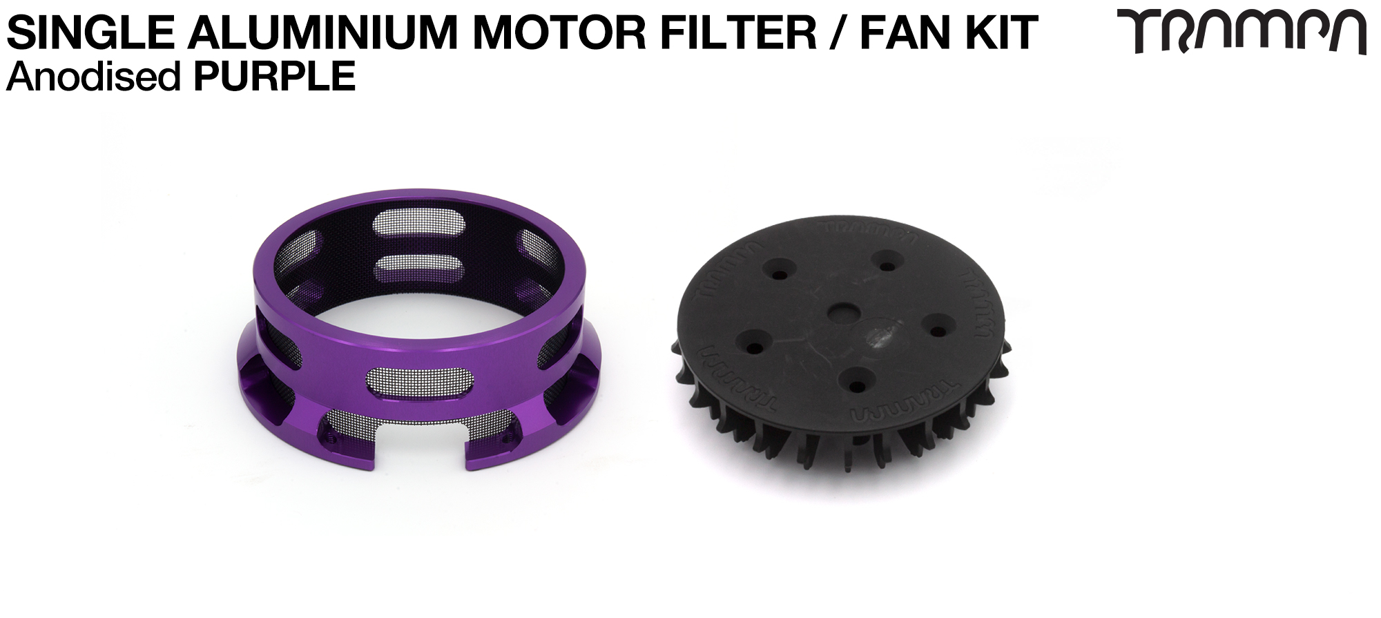 14FiFties BLACK Motor protection Housing with PURPLE particle Filter & Fan - SINGLE