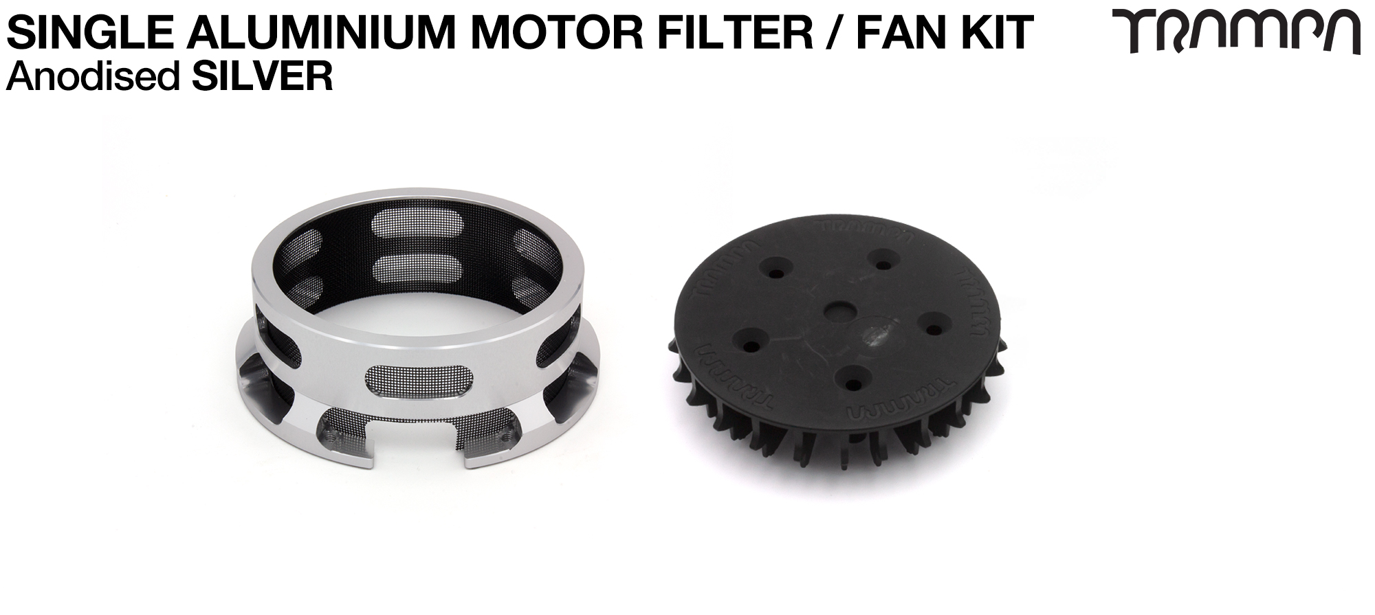 14FiFties BLACK Motor protection Housing with SILVER particle Filter & Fan - SINGLE