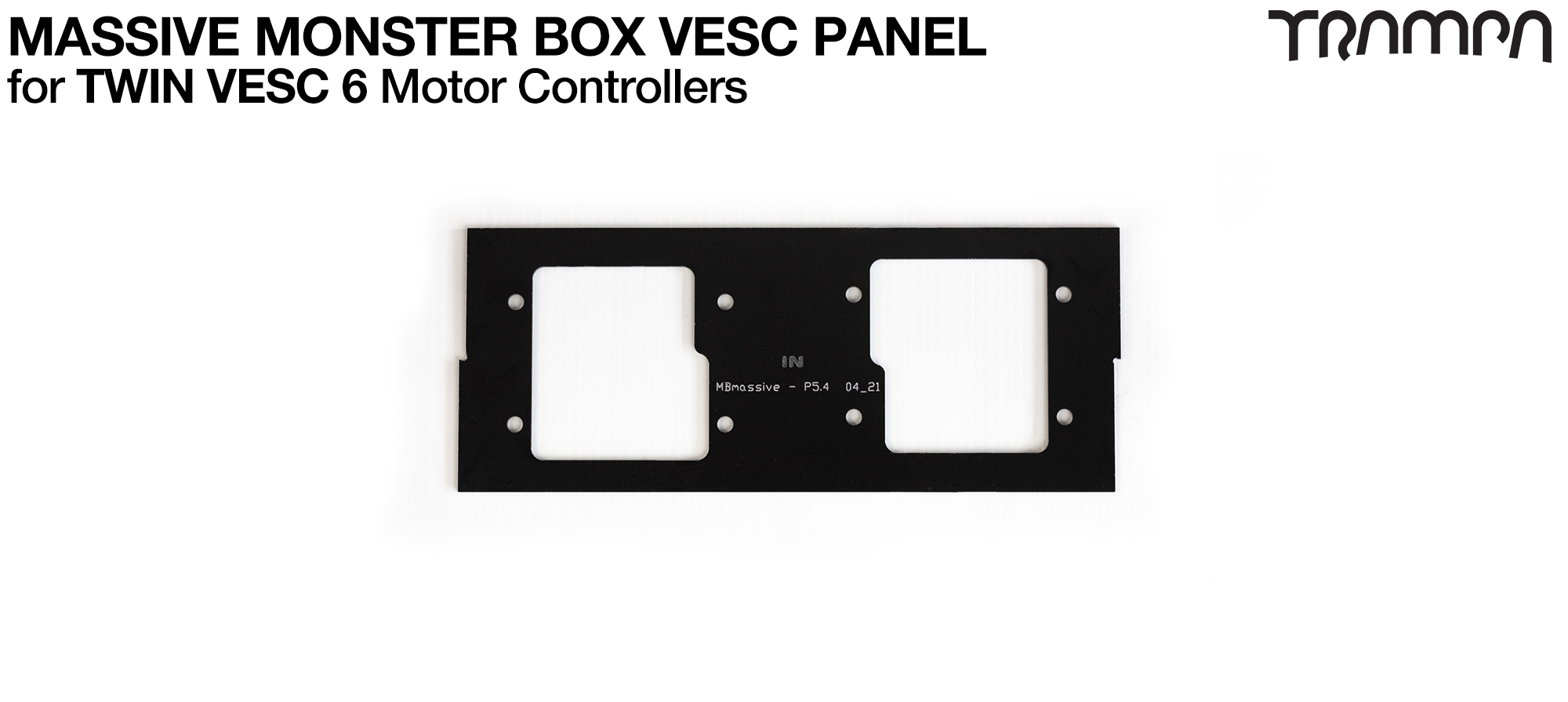 MASSIVE Monster Box 2x VESC 6 2mm Mounting PANEL (2WD)