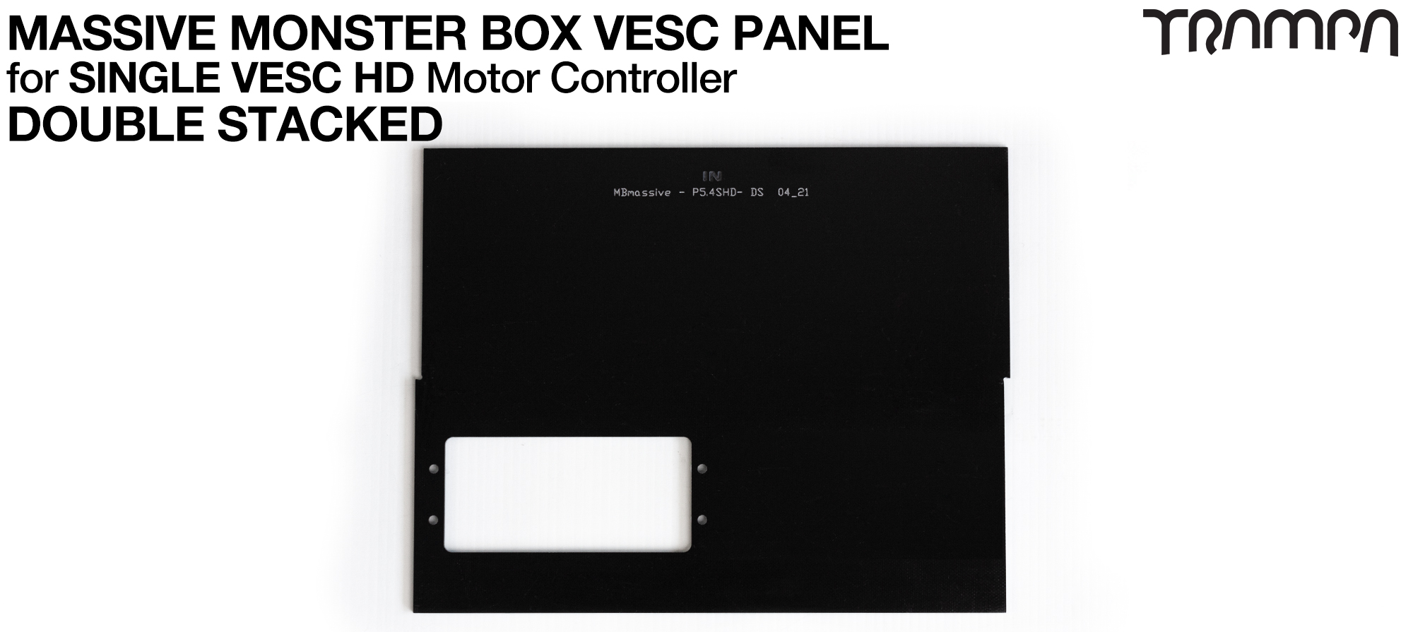 MASSIVE Monster Box 1x HD-60T 2mm DOUBLE STACK Mounting Panel (2WD)