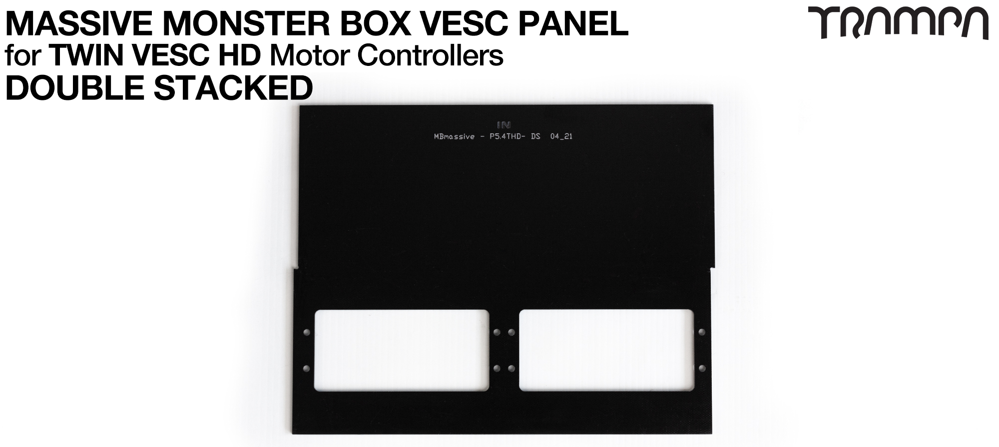 MASSIVE Monster Box 2x VESC 6 2mm DOUBLE STACK Mounting Panel (2WD)