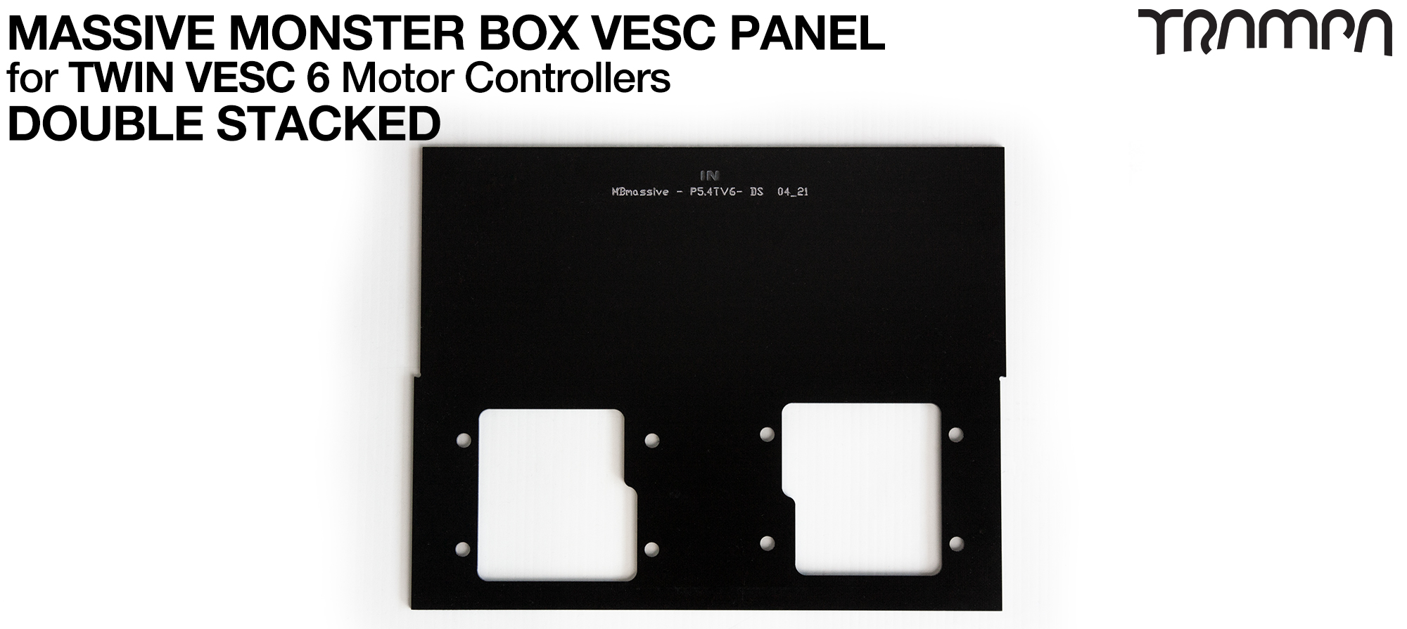 MASSIVE Monster Box 2x HD-60T 2mm DOUBLE STACK Mounting Panel (4WD)