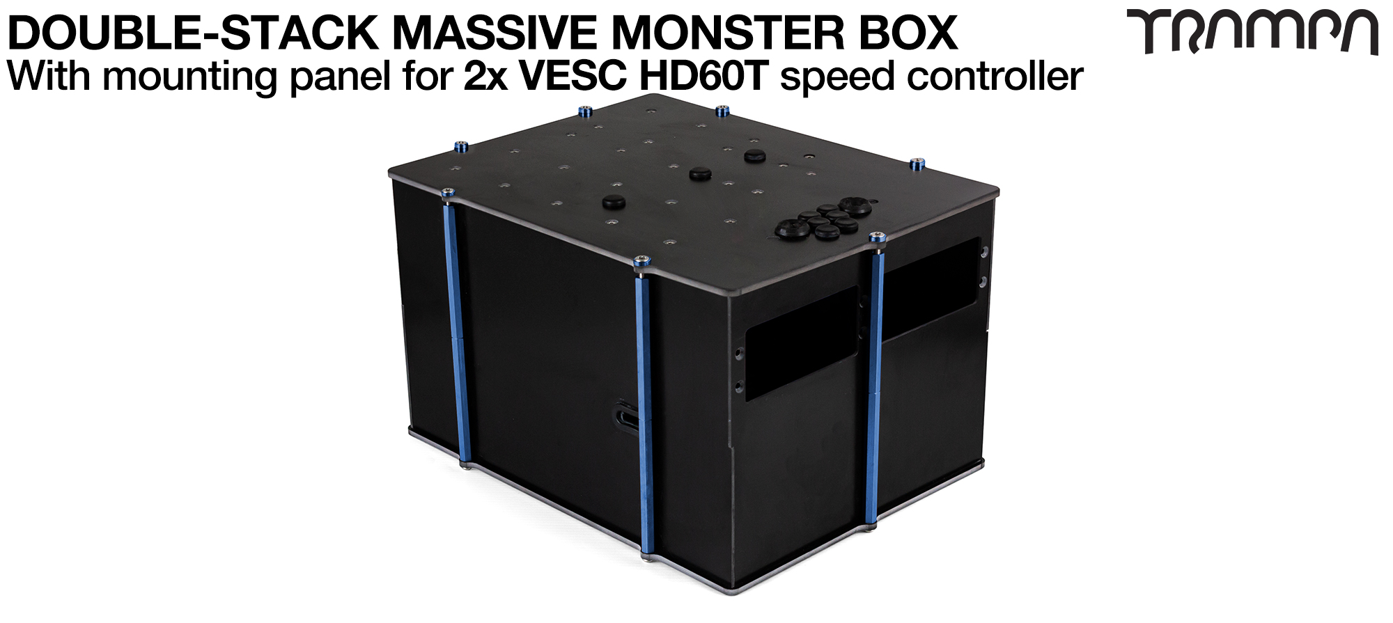4WD DOUBLE STACK MASSIVE MONSTER Box with 2x VESC HD-60Twin Mounting Panel