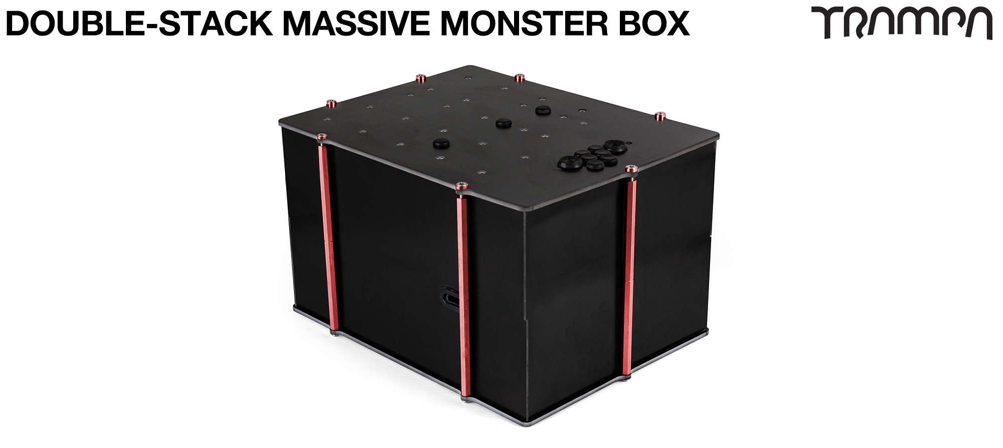 2WD DOUBLE STACK MASSIVE MONSTER Box with NO VESC Mounting Panel