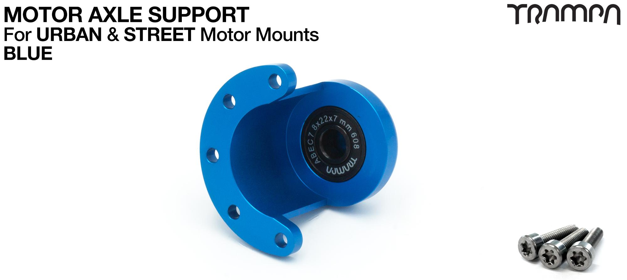 ORRSOM Longboard Motor Axle Support for Motor Mounts  - BLUE