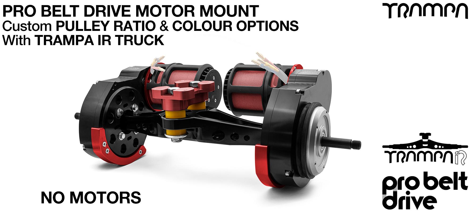TRAMPA's 16mm  PRO Belt Drive TWIN Motor Mountainboard & TRAMPA IR TRUCK - NO MOTORS (COPY)