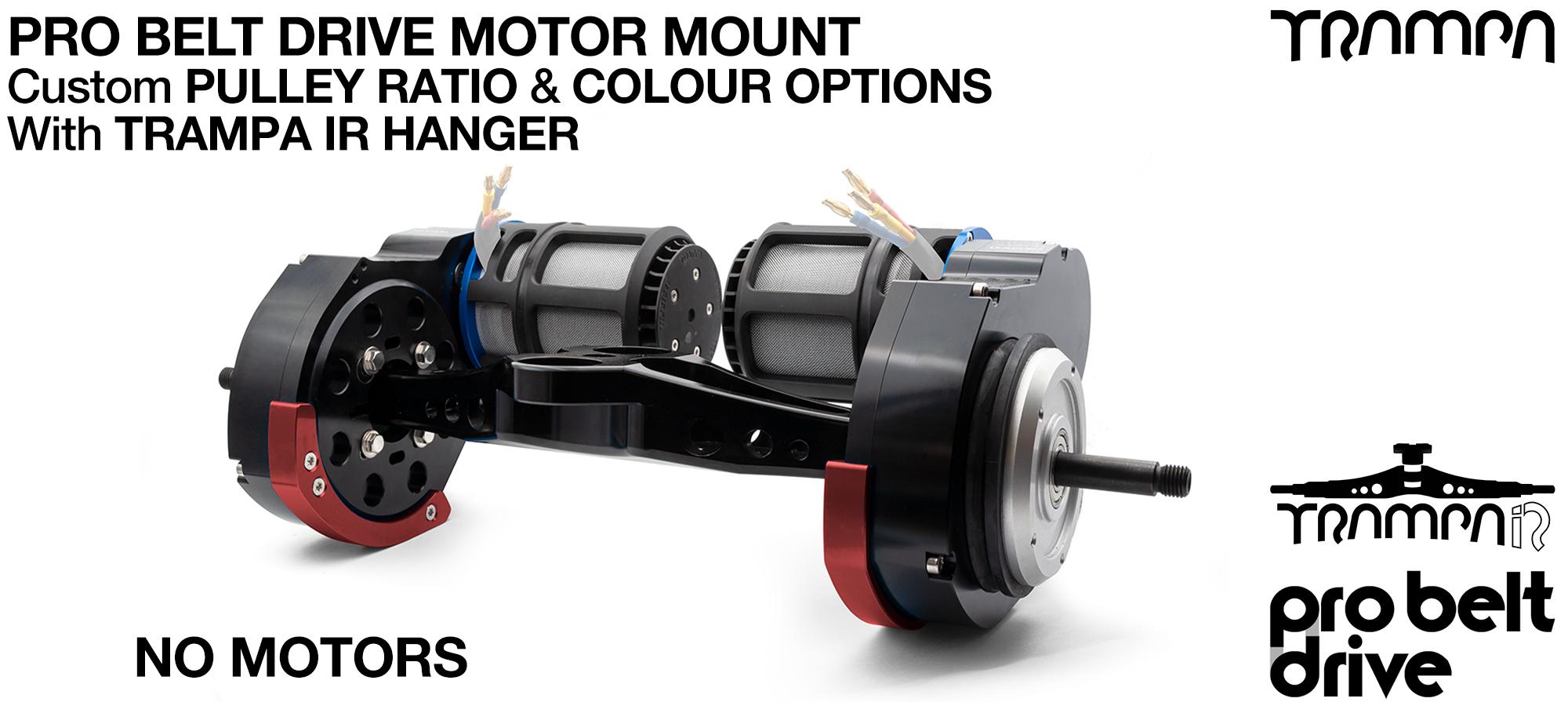 TRAMPA's 16mm PRO Belt Drive TWIN Motor Mountainboard & TRAMPA IR Hanger - NO MOTORS