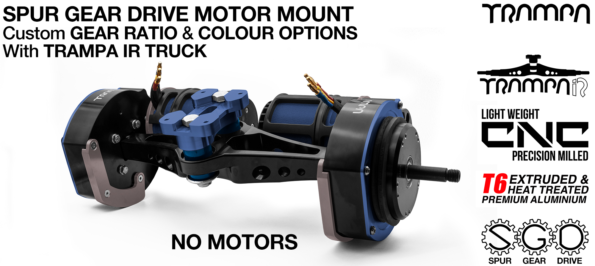 Spur Gear Drive TWIN with PULLEYS & FILTERS Mounted on a TRAMPA-IR TRUCK