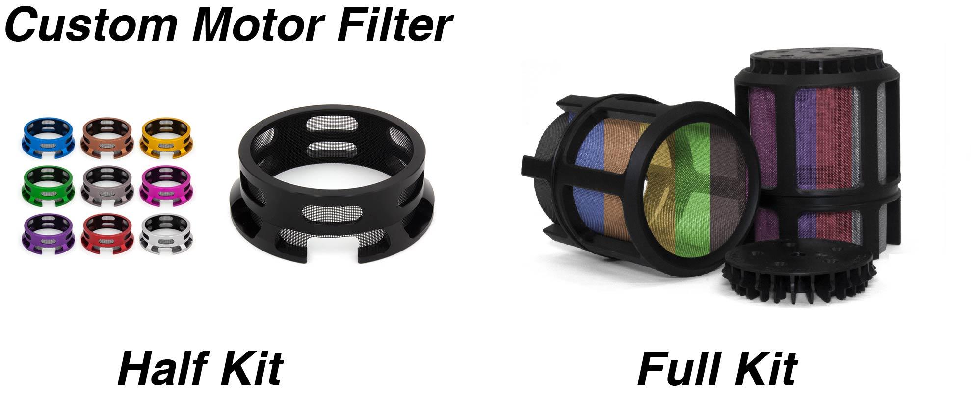 Custom Motor Filters - HALF or FULL Cage