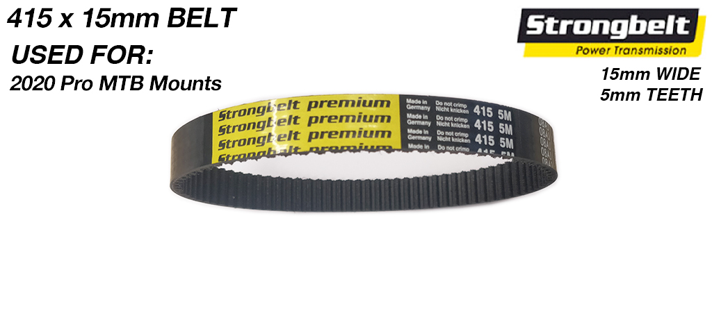415 long x 16mm wide High Torque Drive (HTD) 5M (5mm Tooth Space) High Power (HP) MIGHTY BELT for 16mm Pro Belt Motor Mounts