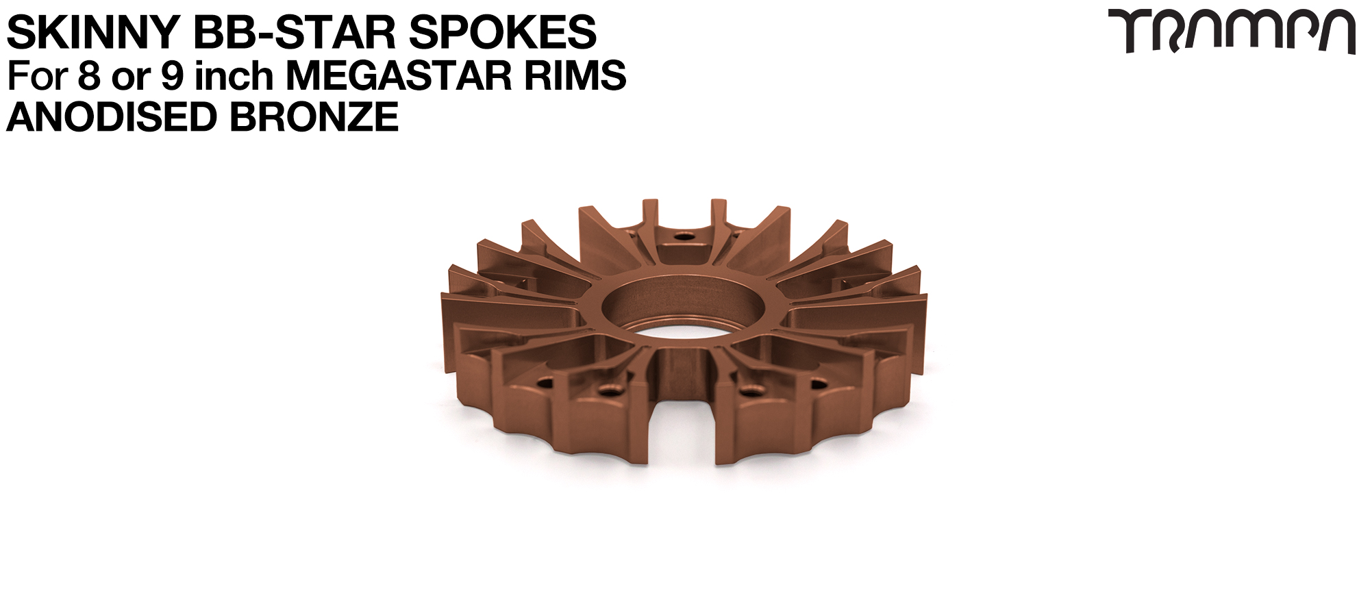 BB Star Spoke for 8 Inch DEEP-DISH MEGASTAR Rim - CNC Precision milled - BRONZE