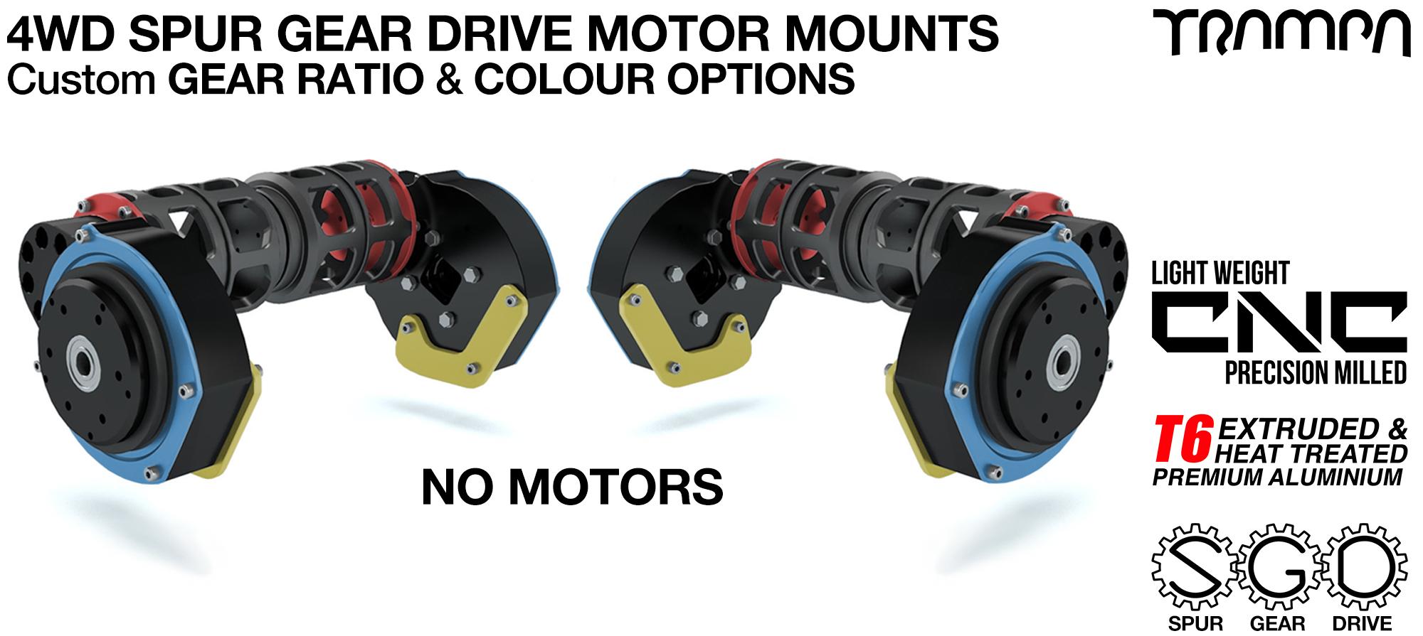 TRAMPA 4WD LOADED Spur Gear Drive Motor Mount kit with MOTORS PULLEYS & MOTOR Filters