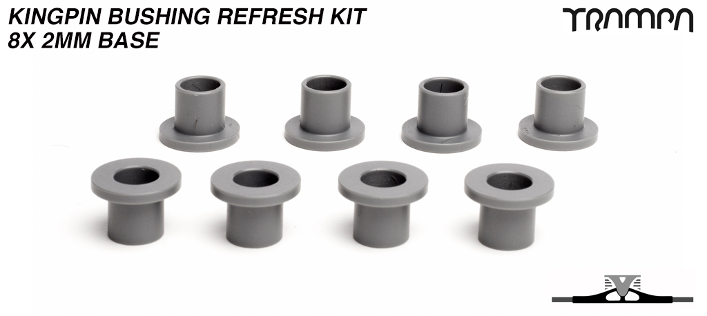 2mm BASE Kingpin bushings for ALL Spring Trucks x8